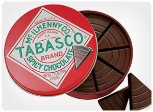 tabasco chocolate wedges. Another great gift for my father.