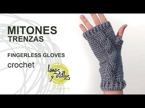 ▶ Tutorial Mitones Crochet Fingerless Gloves (English subtitles) - YouTube