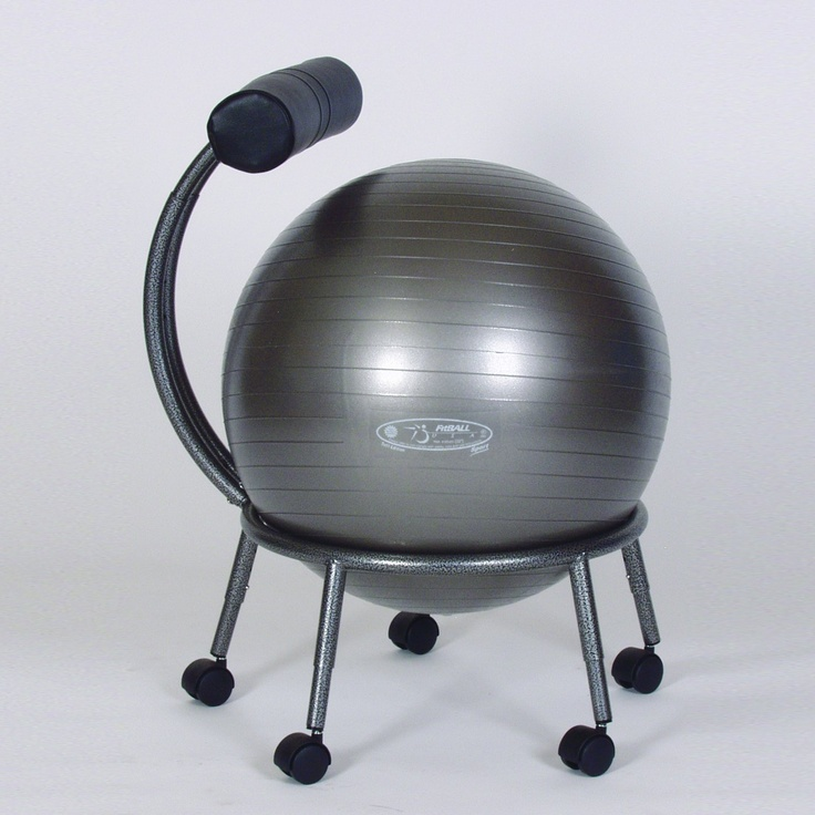 FitBall Stability Ball Chair Balance Ball Chair I want this for my office New Years Fitness Inspiration Pinterest