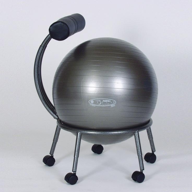 Stability Ball Desk Chair: FitBall PKG-FBCHAIR Stability Ball Chair