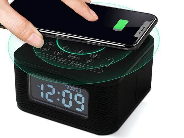 Homtime Wireless Charging Alarm Clock