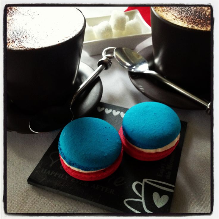Coffee and macaroons for Bastille Day at Maison de Provence, French Patisserie in Cooroy