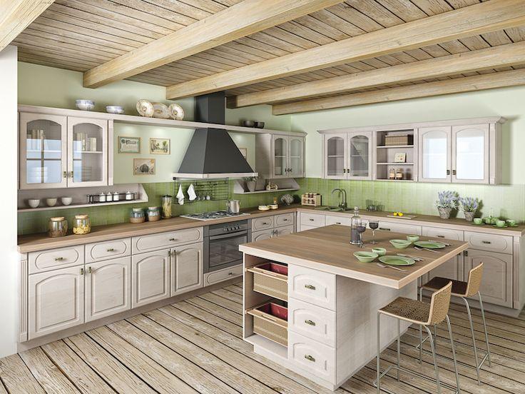 K nerozeznání od pravého březového dřeva budou v kuchyni fóliovaná dvířka s dřevodekorem bříza vermont. V ceně od 1935 Kč/m2.