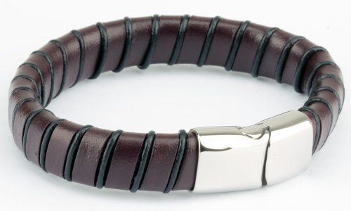 High Quality 10mm Brown Stripe Leather Rope Cord Bracelet for Men Women with Locking Stainless Steel Clasp 8.9 Inch Width Somen. $11.99. genuine leather. Brown Stripe Cord Leather Bracelet. Cheapest and high quality. Length: 8.6 inches Width: 1.3 cm. Save 70% Off!