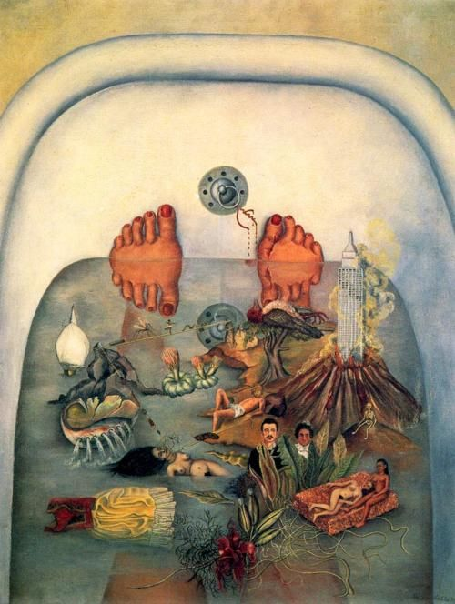 Frida Kahlo: Lo que el agua me dio ( I tried to drown my sorrows, but the bastards learned how to swim)  Brilliant artist...