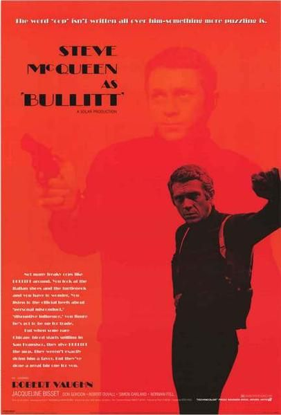 A great movie poster from the classic Steve McQueen car-chase film Bullitt! Published in 2005. Fully licensed. Ships fast. 24x36 inches. Need Poster Mounts..? bm8650 py30404