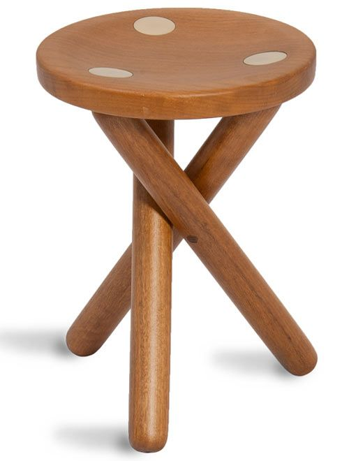 From the duo of Fetiche Design Studio comes the El Dorado Collection for Schuster. The wood stool comes in two different heights and is made of metal and wood. The legs of the tripod stools are configured in a less traditional way with a twisted, pretzel-like formation.