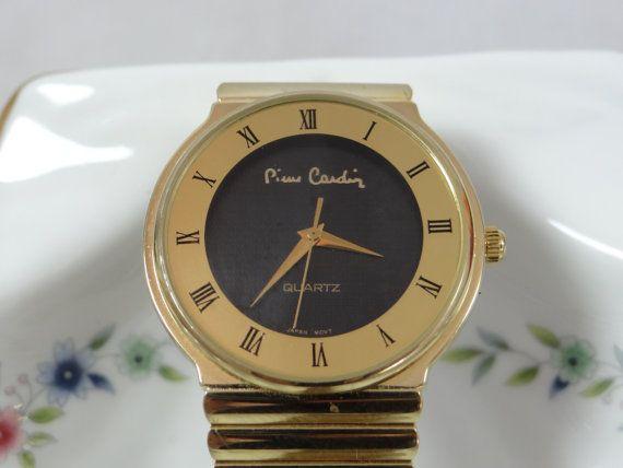 Vintage Working Unisex Pierre Cardin Quartz Gold by SecondWindShop, $40.00