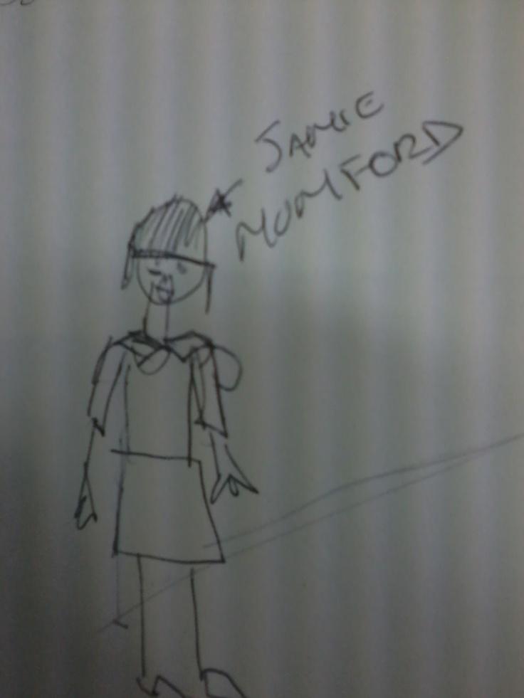 A masterful drawing of Jamie Mumford