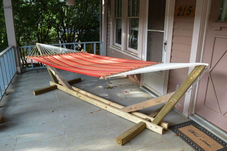 Suport pentru hamac - proiect DIY din lemn