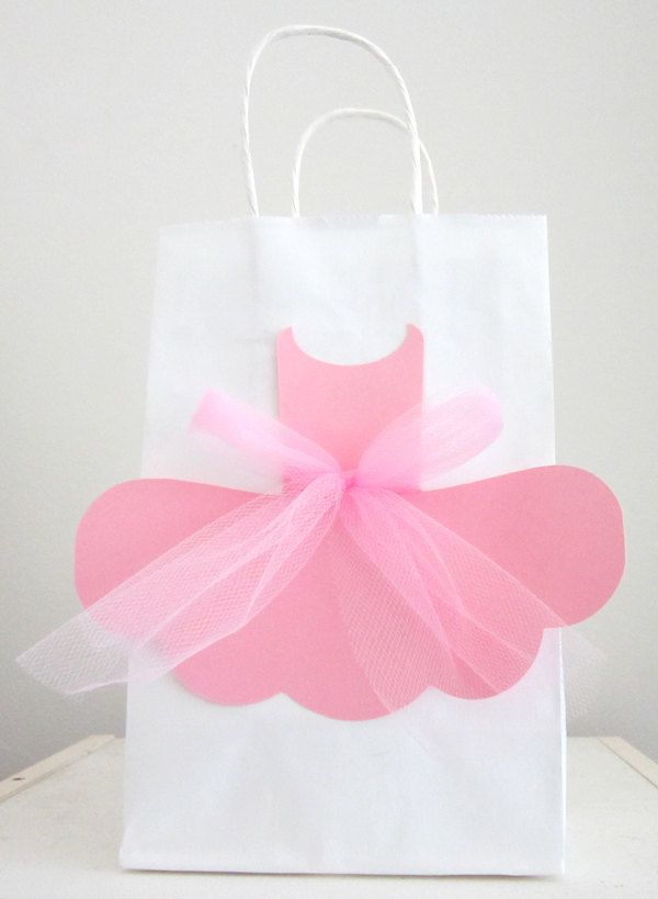 Ballerina Favor Goody Gift Bags - 10 Favor Bags by CraftyCue on Etsy https://www.etsy.com/listing/199432085/ballerina-favor-goody-gift-bags-10-favor