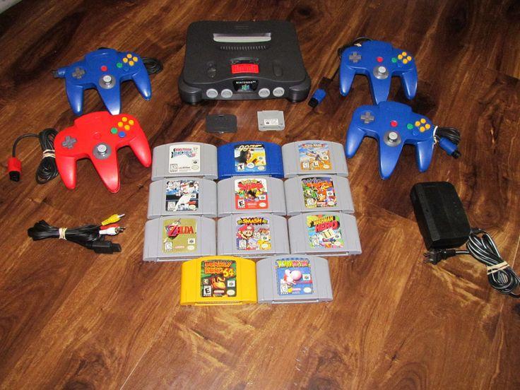 N64 Nintendo 64 System 11 Games Donkey Kong Zelda Yoshi's Super Smash Bros. | eBay