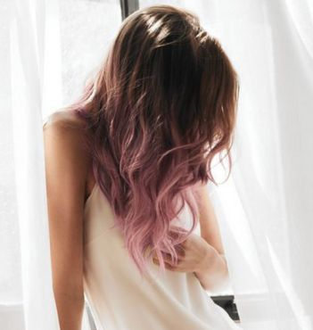 pink ombre dip dye hair