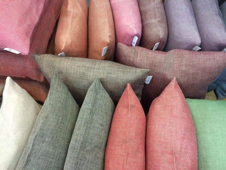 Linen pillows from Växbo Lin