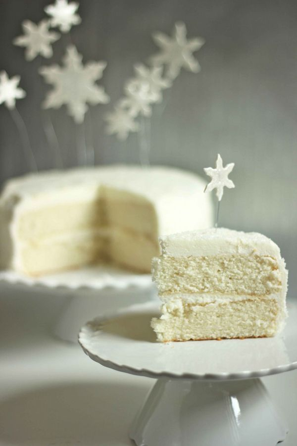 Beautiful White Christmas Cake recipe...