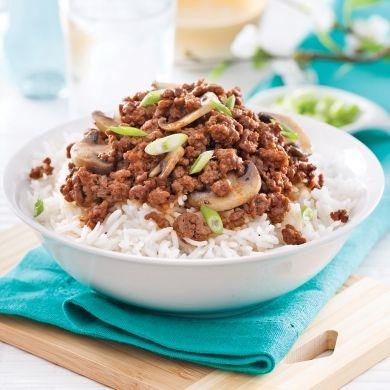 Boeuf sauce chinoise aux champignons - Soupers de semaine - Recettes 5-15 - Recettes express 5/15 - Pratico Pratique