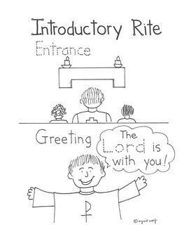 Great printables to help children learn about the parts of the Mass.