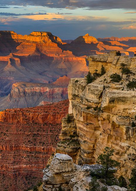 Sunset from Mather Point on the South Rim of Grand Canyon National Park.