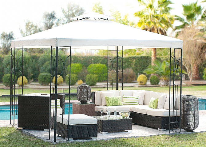 Pérgola 3x3m panel doble.   sku: 203820-X 203821-8