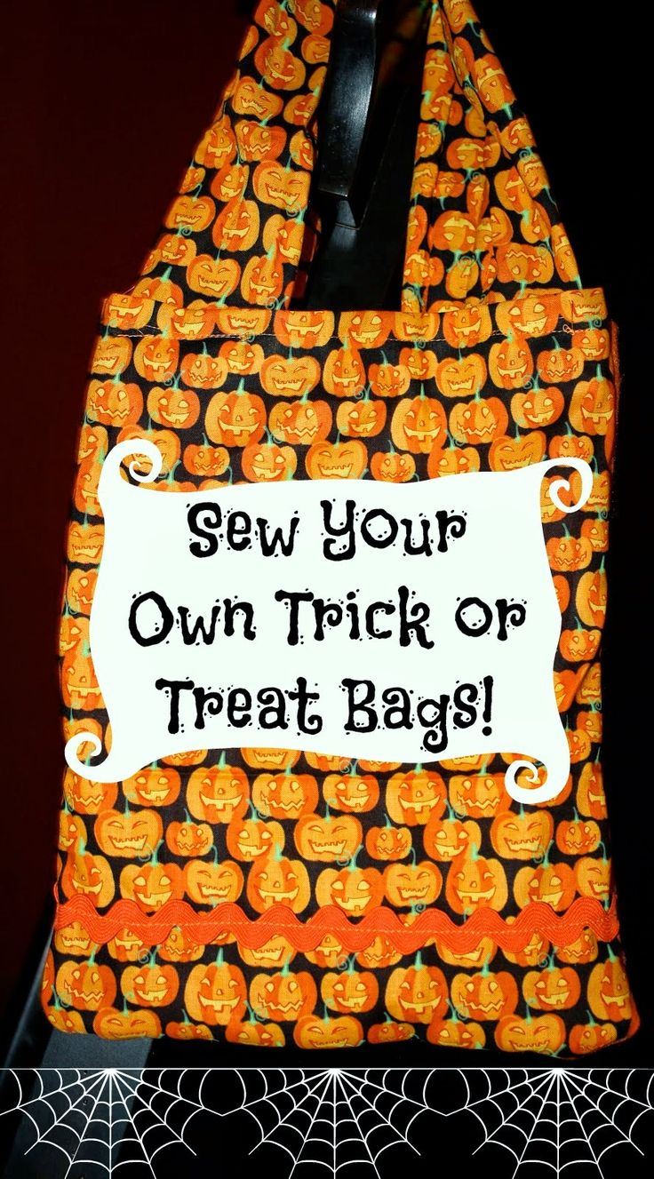 make your own trick or treat bags - Halloween Trick Ideas