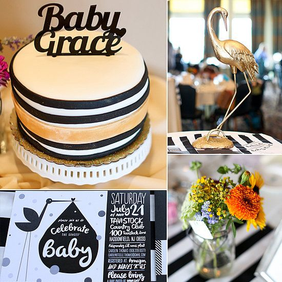 Sophisticated Baby Shower in Black, White, and Gold
