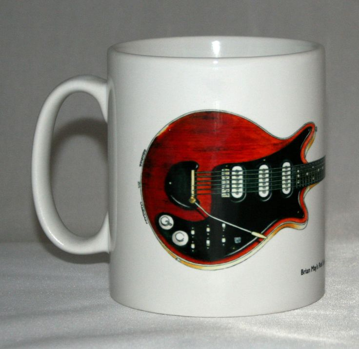 Guitar Mug. Brian May s Red Special  Old Lady  illustration.