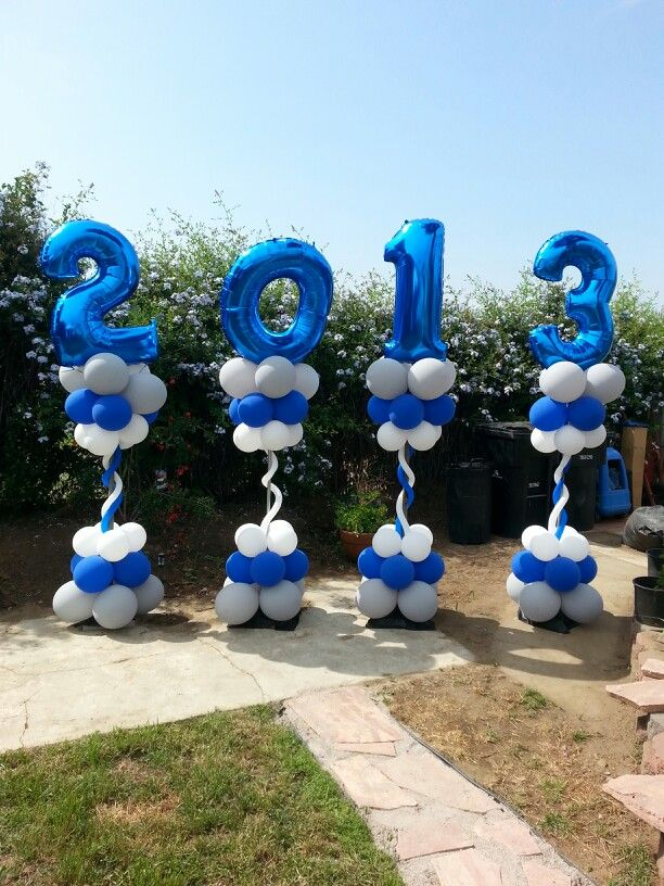 Graduation columns #followonfb #ballooncreationsbysandy