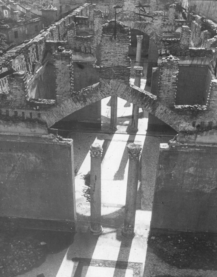 Veduta aerea. Bombardamento del museo. #IIguerramondiale #guerremondiali #storia #storiadibrera #arte