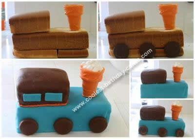 "full size train ""loaf"" cake"