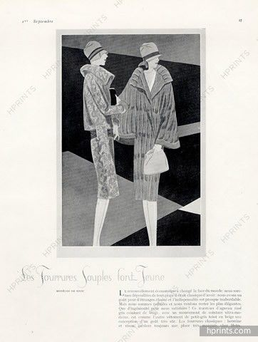 Jacques Heim (Couture) 1926 Fur Coat