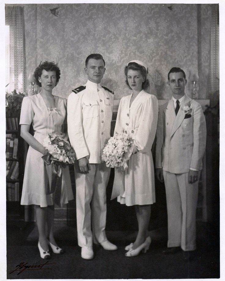 1941 wedding party