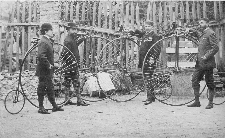Bicycle-riders in the Király utca, 1896