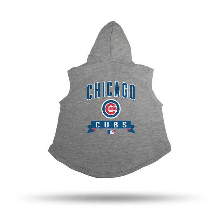 Chicago Cubs Sparo Gray Pet Hooded Sweatshirt