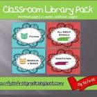 Organizing your classroom library?? Check these labels out! This is a set of 28 labels (blue chevron and Red dots).   It includes: -Various Genre Labels - Address Labels that correspond with the genre labels...