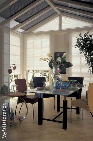 Fancy Fenster Plissee Rollos im Esszimmer