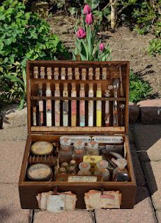 Apothecary Box....what if you turned this into a Herbal First Aid Kit?