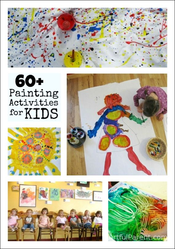 60+ Painting Activities for Kids - spice up the usual outdoor painting activities.