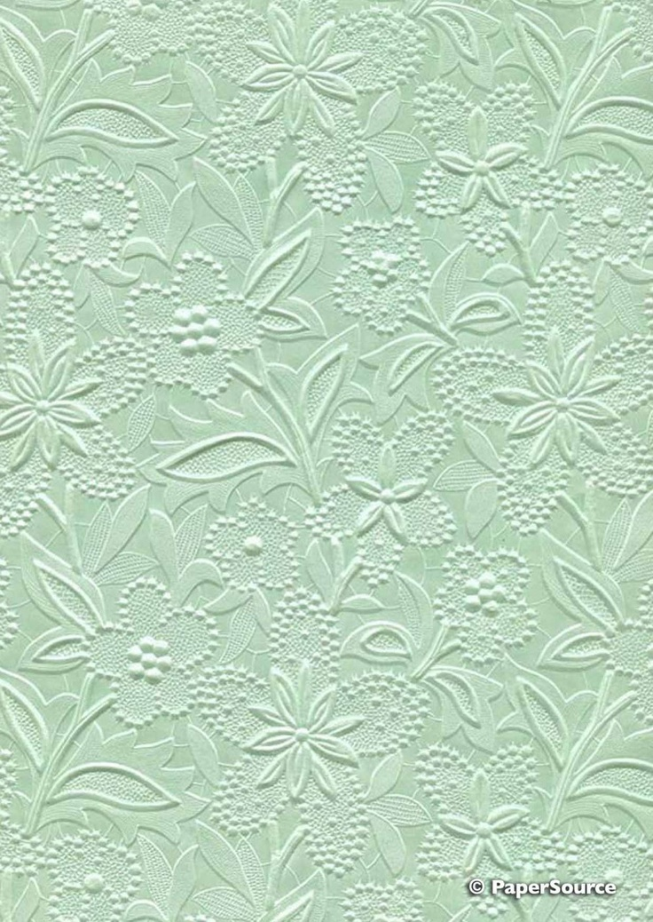 Crafty Paper - Embossed Pearlescent Bloom - Pastel Green, $2.40 (http://www.craftypaper.com.au/embossed-pearlescent-bloom-pastel-green/)