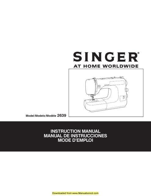 singer sewing machine model 2639