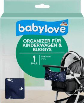 Mit dem babylove Organizer für Kinderwagen & Buggys sind auch unterwegs alle wichtigen Dinge an ihrem Platz und immer griffbereit. Dank der praktischen...