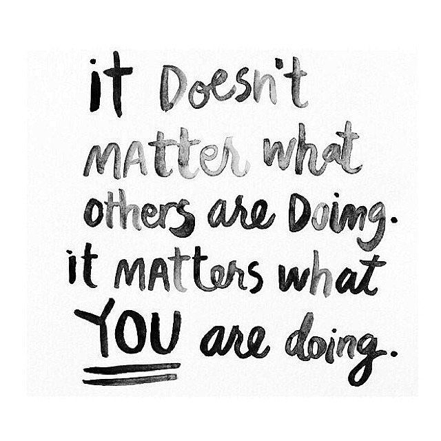 What You Are Doing Matters Others Forum