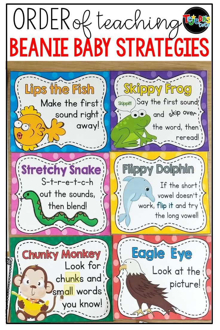 I Often Get Asked Which Order Is Best For Teaching The Beanie Baby Reading Strategies Kindergarten Guided Reading Kindergarten Reading Comprehension Strategies Guided reading lessons for kindergarten