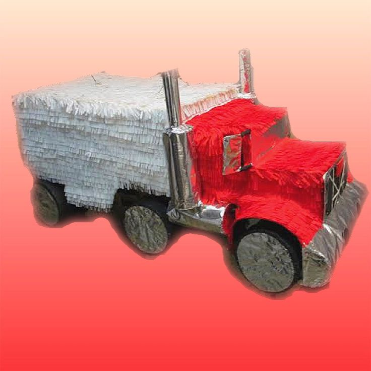 Custom Handmade Semi Truck Party Pinata Casa Pinatas