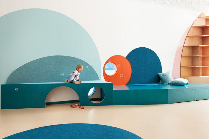 Kita Sinneswandel – Sinneswandel kindergarten in Berlin is integration kindergarte hosting deaf und hearing kids. Room high animal applications guide the kids to their rooms. Kita Hisa  – formerly a retail store, was rebuilt to create a pleasant, safe and stimulating kindergarten with enough space...