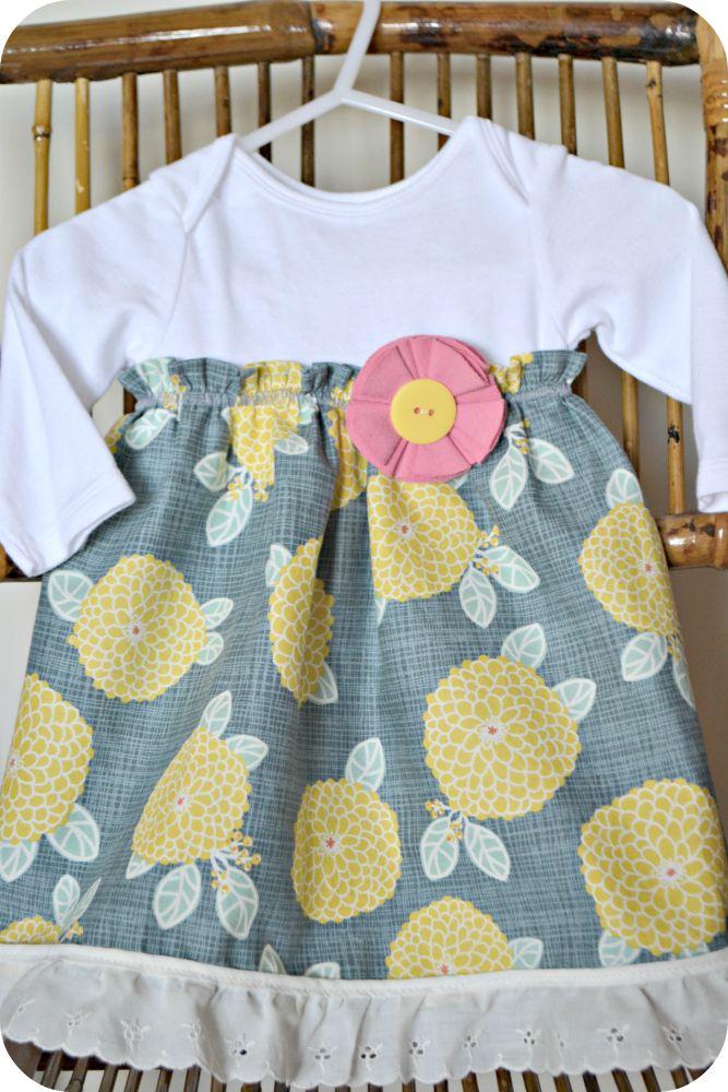 Turn a onesie into a dress! The Life of Jennifer Dawn: Onesie Dress Tutorial