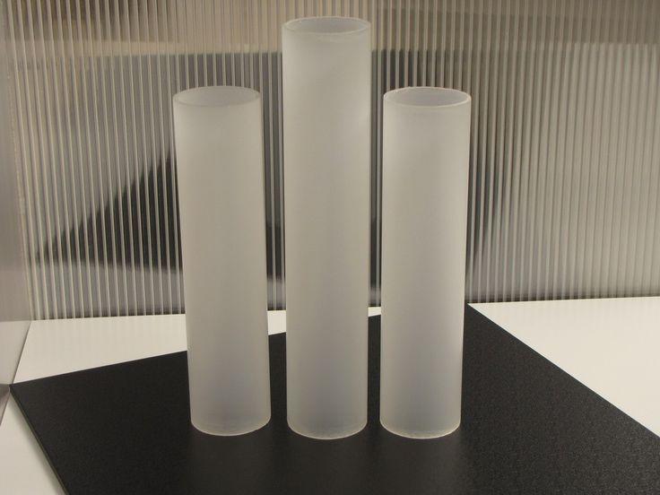 Acrylaat buis geëxtrudeerd kleurloos satijn ofwel mat diam. 50/44 mm, L=2000 mm