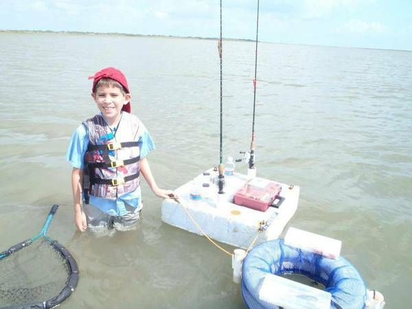 James, wade fishermen come in all sizes. Young James, loves fishing with his Ultimate Wade Fishing Caddy