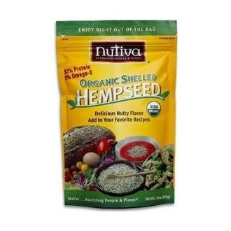 Nutiva Organic Shelled Hempseed: Shelled hemp seeds (or hempnuts) taste similar to sesame or sunflower seeds and can be added to almost any recipe. Enjoy daily by adding to smoothies, cereal, omelettes, yogurt, soups, salads, and veggies.