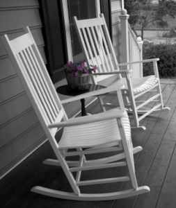 I would love a house with a porch with two rocking chairs. Perfect quality time to spend with my husband! Rocking an talking all day long.