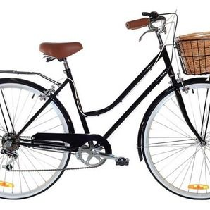 Black Vintage Ladies Bike 6 Speed - Special Edition by Reid Cycles